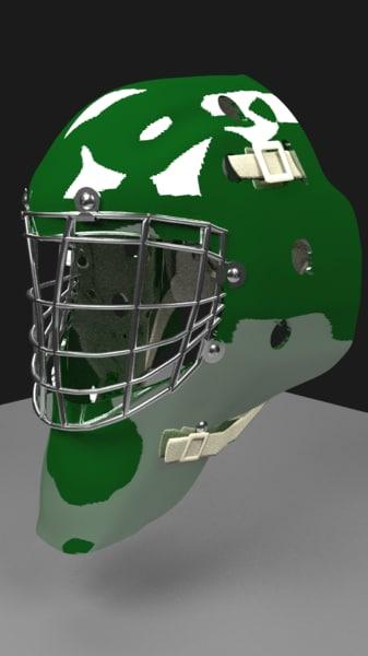 3d hockey goalie helmet