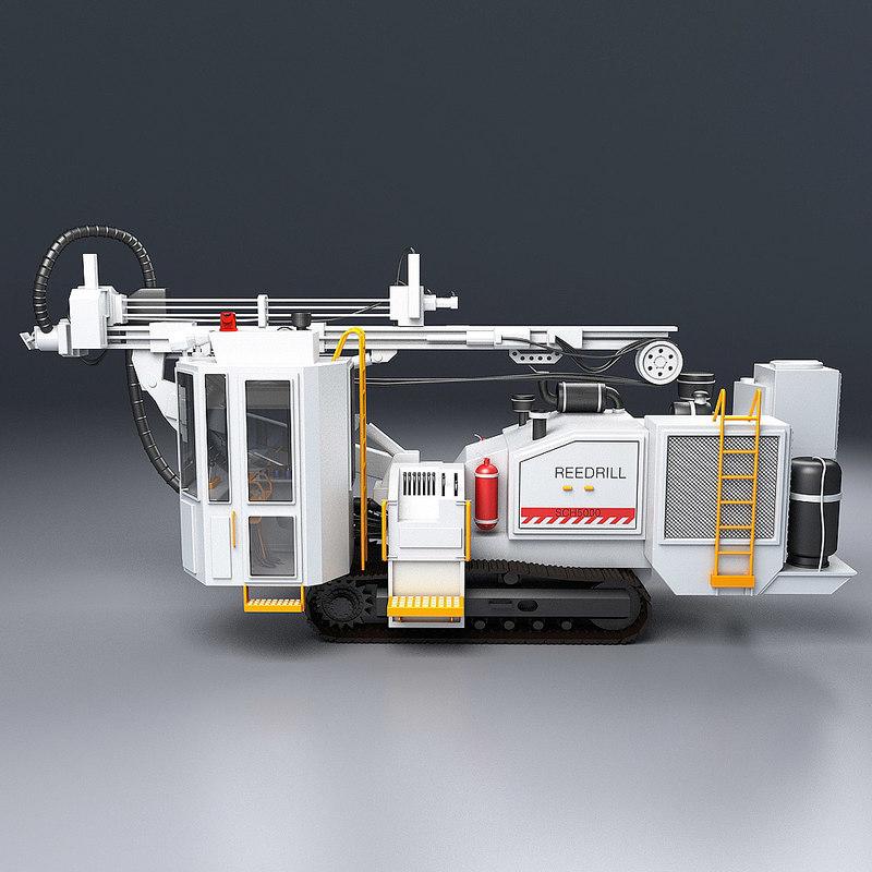 3d model hydraulic drill