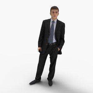 man businessman business 3d max