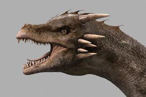 3d dragon animal reptile