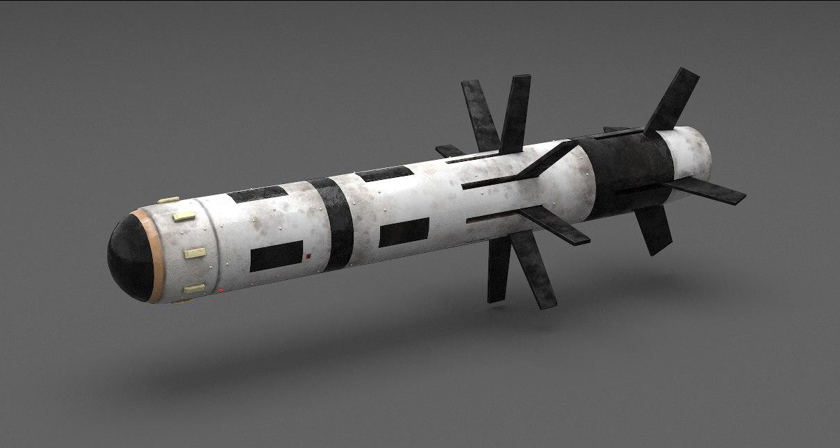 3d obj rocket javelin fgm-148