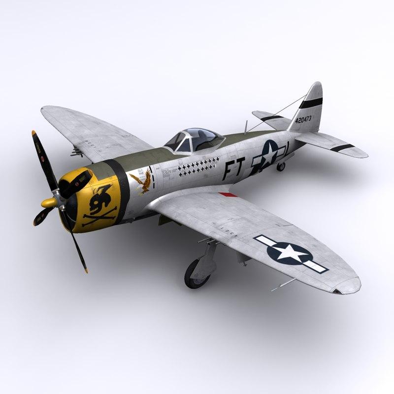 p-47 maj eaglestone france 3d obj