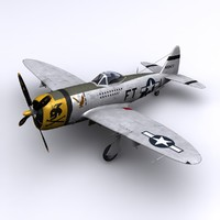 p-47 maj eaglestone france 3d obj