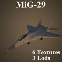 3d mikoyan air low-poly