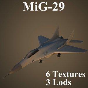 3d mikoyan air low-poly