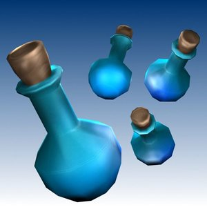 free potion bottle 3d model