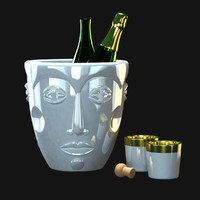 champagne cooler sieger faces 3d 3ds