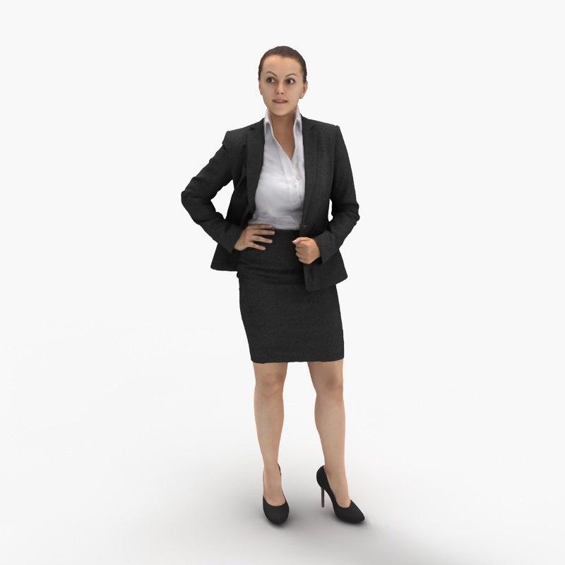 3d woman businesswoman model