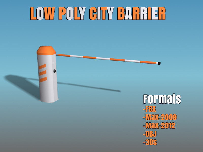 3ds max city barrier