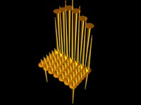 spiky chair 3d max