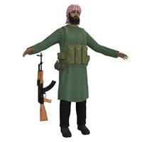 mujahideen ak47 soldier 3d max
