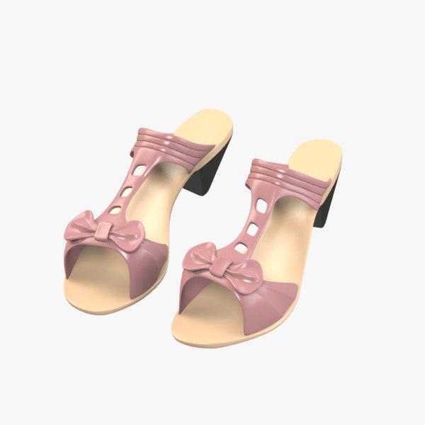 3d sandals model