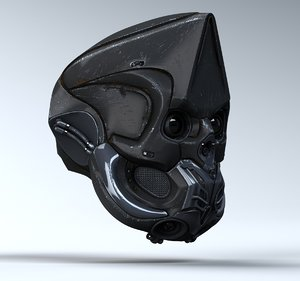 obj - sci fi helmet animation