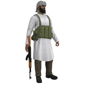mujahideen rigged 3d model