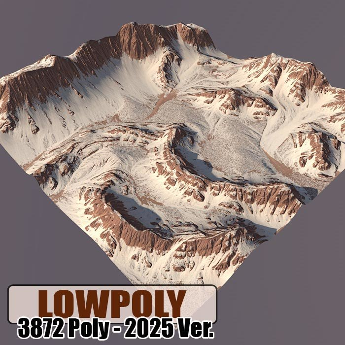 mountain games maps 3d model