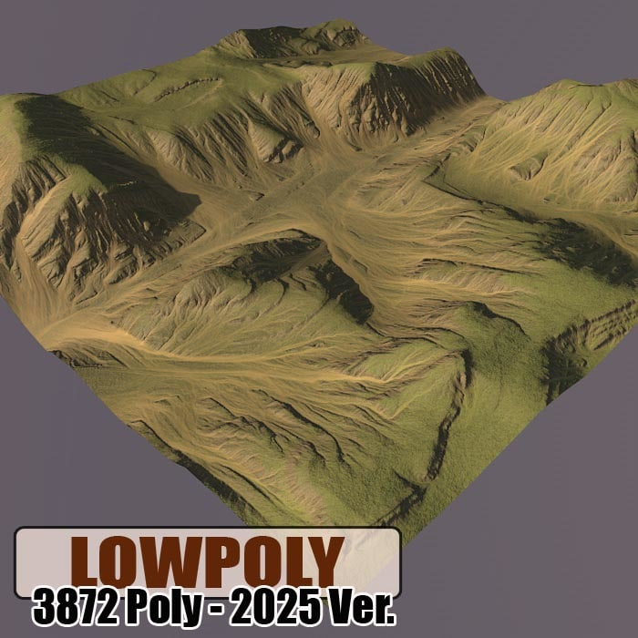 3d mountain maps terrain model