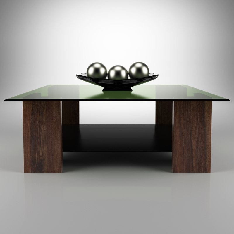three-dimensional modern coffee table 3d model