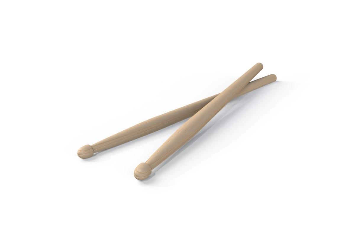 free 3ds model drum sticks rock
