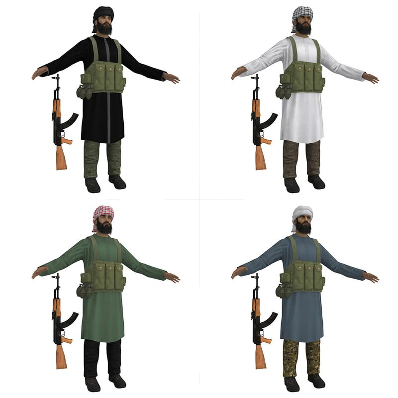 3d pack mujahideen model
