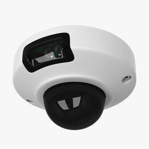 3d security dome camera model