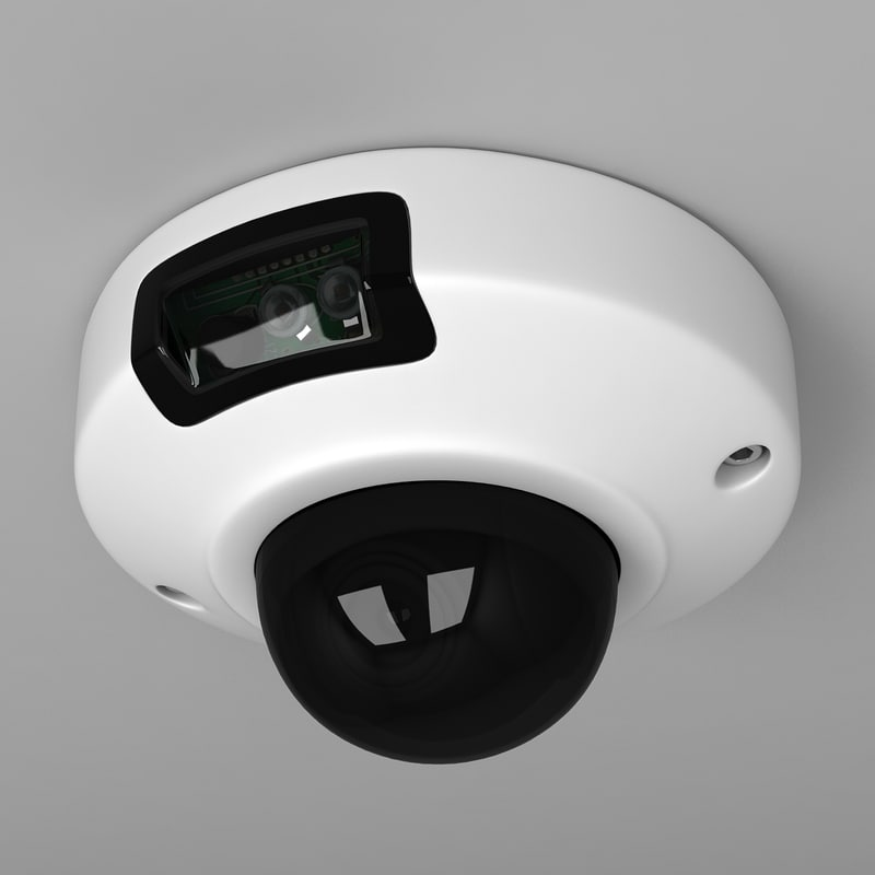 3d security dome camera model