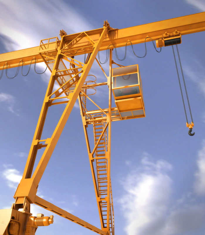 3d model travelling bridge crane