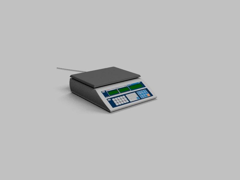 3d digital scales model