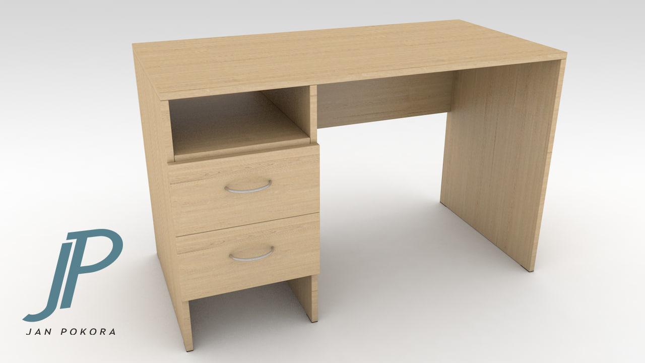pc table 3d 3ds