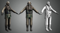 world war pilot 3d model