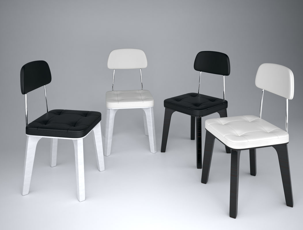 3d kitchen chair leather