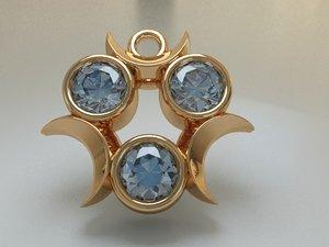 3d model jewelry pendent