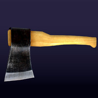 Low Poly Hatchet  #1  for GameDev