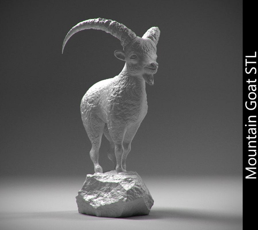 3d stl mountain goat