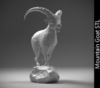 3d stl mountain goat