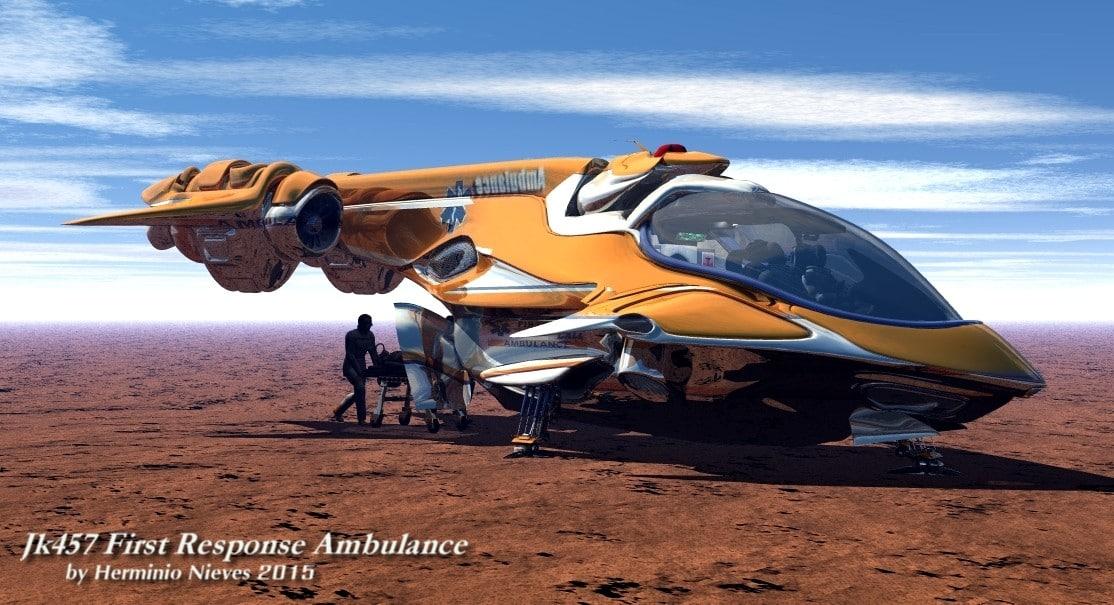 obj scifi ambulance