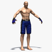 mma fighter 3d obj