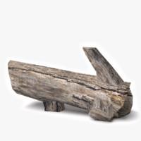 dead log 3d model