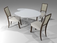 3ds max simple chair table-palette table