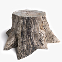 dead tree stump 3d model