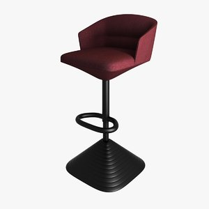 3d barstool pivot model