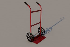 dual cylinder cart dolly 3d 3ds