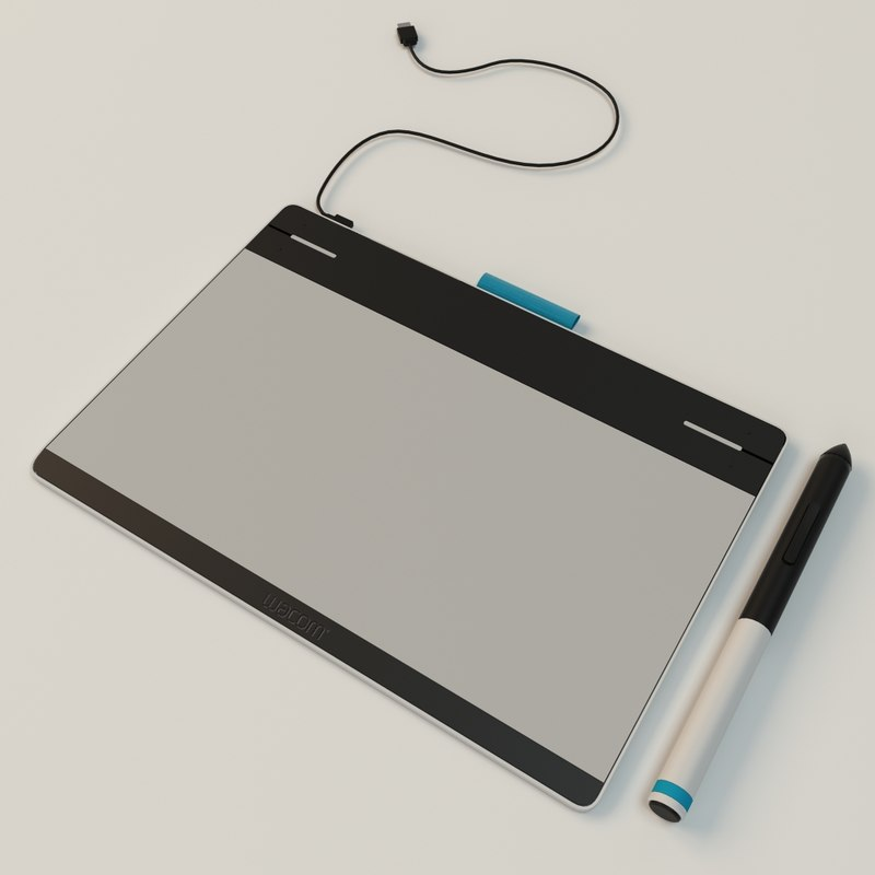 3d wacom tablet model