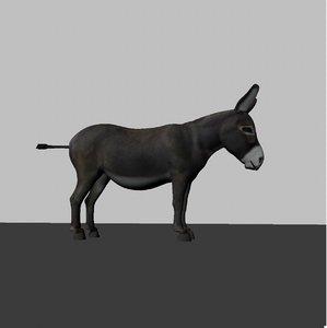 3d donkey animation