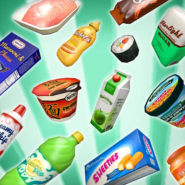 3d supermarket pack model