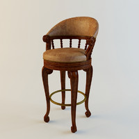 Maitland smith Bar Chair Dark Antique