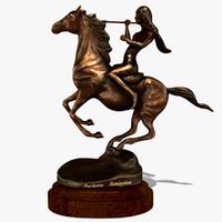 3d model horse statuette