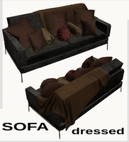 sofa pillows 3d obj