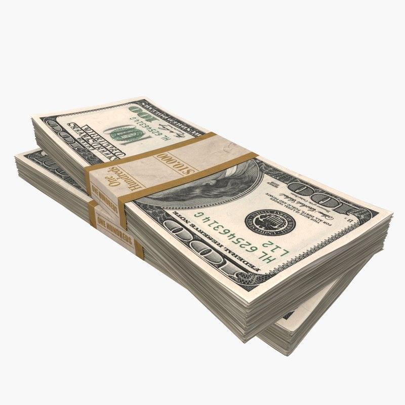 dollar stack 3d max