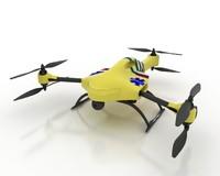 3d ambulance drone model