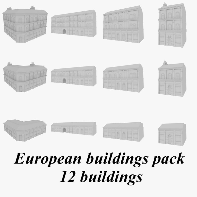 european buildings 3d 3ds